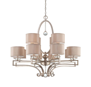 946642 - 12 Light Chandelier - Silver Sparkle