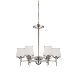 946623 - Six Light Chandelier - Satin Nickel