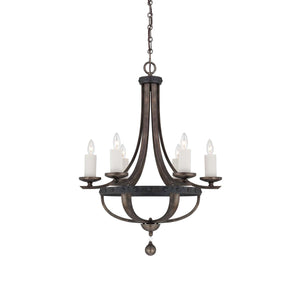 946631 - Six Light Chandelier - Reclaimed Wood