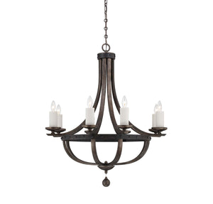 946638 - Eight Light Chandelier - Reclaimed Wood