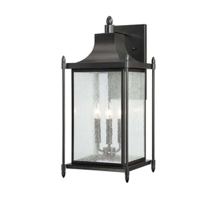 946695 - Three Light Wall Lantern - Black