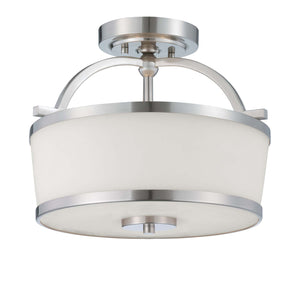 946672 - Two Light Semi-Flush Mount - Satin Nickel