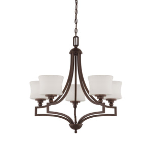 937850 - Five Light Chandelier - English Bronze