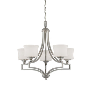 937854 - Five Light Chandelier - Satin Nickel