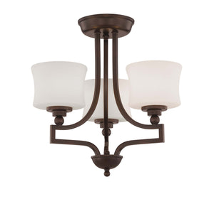 937858 - Three Light Semi-Flush Mount - English Bronze