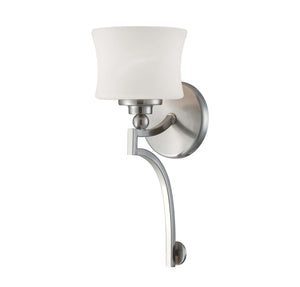 937645 - One Light Wall Sconce - Satin Nickel