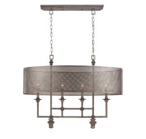937662 - Four Light Chandelier - Aged Steel