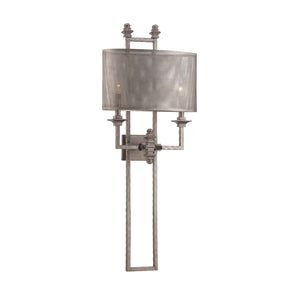 937713 - Two Light Wall Sconce - Aged Steel