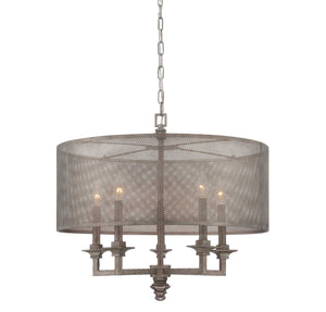 957581 - Five Light Pendant - Aged Steel