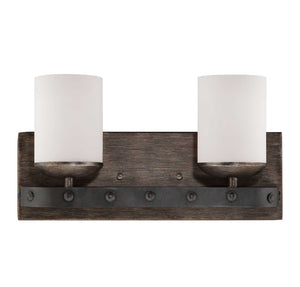 955045 - Two Light Bath Bar - Reclaimed Wood