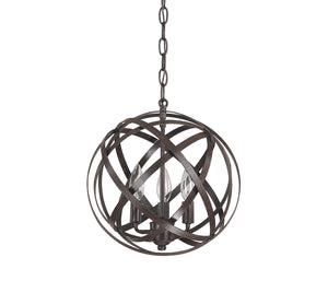 142363 - Three Light Pendant - Russet