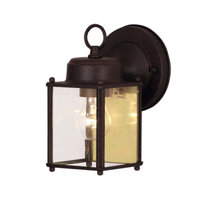 120248 - One Light Outdoor Wall Lantern - Rust