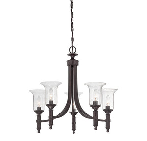 120617 - Five Light Chandelier - English Bronze