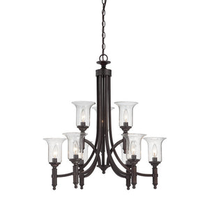 120615 - Nine Light Chandelier - English Bronze