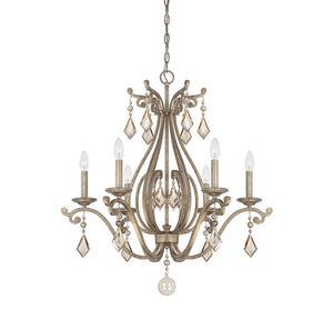120682 - Six Light Chandelier - Oxidized Silver