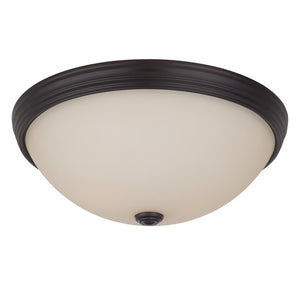 120735 - Two Light Flush Mount - English Bronze