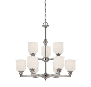 111026 - Nine Light Chandelier - Polished Chrome