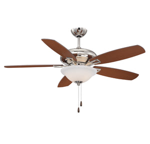 111081 - 52``Ceiling Fan - Polished Nickel