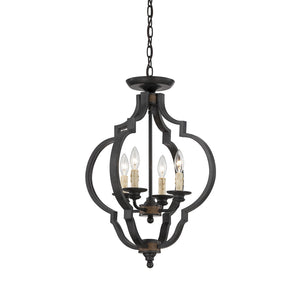 111054 - Four Light Semi Flush Mount - Durango