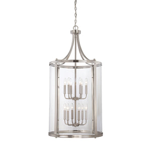 111400 - 12 Light Foyer Lantern - Satin Nickel