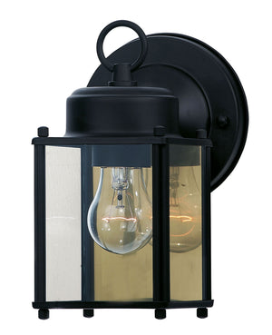 162773 - One Light Outdoor Wall Lantern - Black