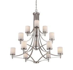 162505 - 12 Light Chandelier - Satin Nickel