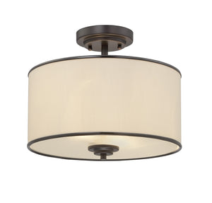 162591 - Two Light Semi-Flush Mount - English Bronze