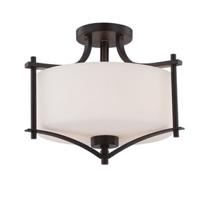 162597 - Two Light Semi-Flush Mount - English Bronze