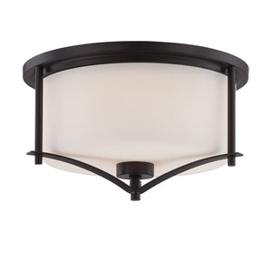 162510 - Two Light Flush Mount - English Bronze