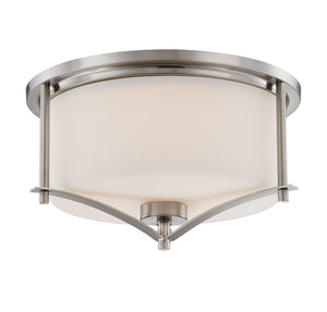 162514 - Two Light Flush Mount - Satin Nickel