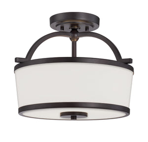 162512 - Two Light Semi-Flush Mount - English Bronze
