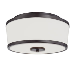162513 - Two Light Flush Mount - English Bronze