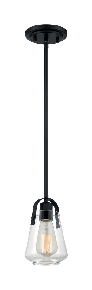 Skybridge 1 Light Matte Black Pendant