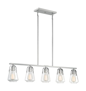 Skybridge 5 Light Brushed Nickel Island Light