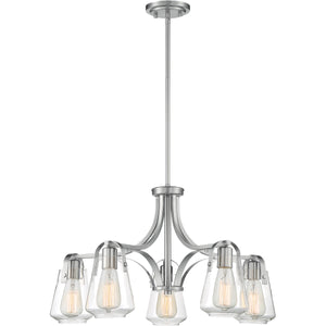 Skybridge 5 Light Brushed Nickel Chandelier
