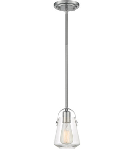 Skybridge 1 Light Brushed Nickel Pendant