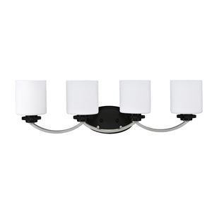 4 Light Black & Chrome Bath Light