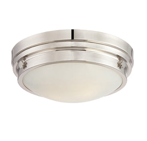 834832 - Two Light Flush Mount - Polished Nickel