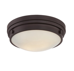 834833 - Two Light Flush Mount - English Bronze
