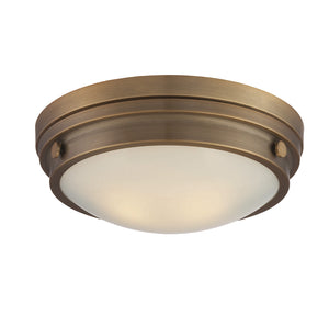 834839 - Two Light Flush Mount - Warm Brass