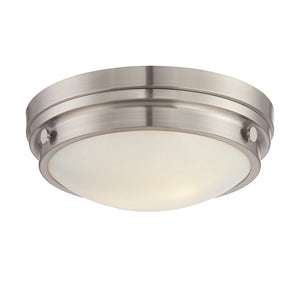 834831 - Two Light Flush Mount - Satin Nickel