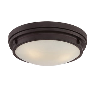 834837 - Three Light Flush Mount - English Bronze