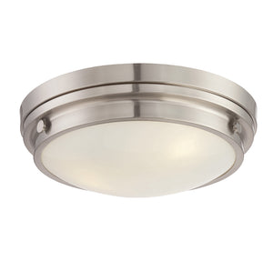 834890 - Three Light Flush Mount - Satin Nickel