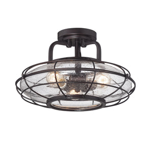 834899 - Three Light Semi-Flush Mount - English Bronze