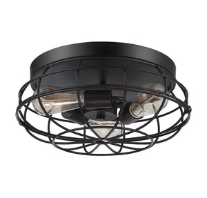 834813 - Three Light Flush Mount - English Bronze