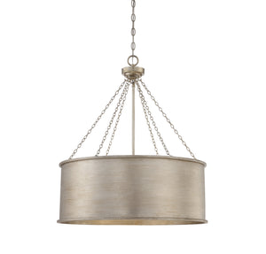 834883 - Six Light Pendant - Silver Patina