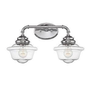 834872 - Two Light Bath Bar - Chrome