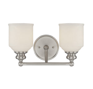 834608 - Two Light Bath Bar - Satin Nickel