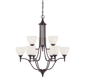 811027 - Nine Light Chandelier - English Bronze