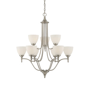 811025 - Nine Light Chandelier - Satin Nickel